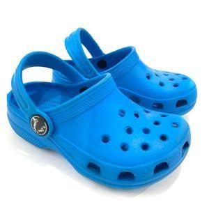CROCS Baby Unisex Size 6/7 Blue Shoes